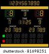 Image of a digital scoreboard. - stock photo