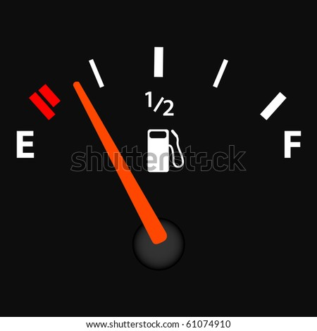 Image of a gas gauge illustration. - stock vector