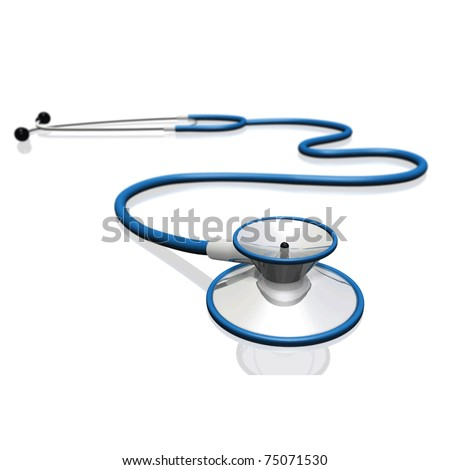 Image of a stethoscope isolated on a white background. - stock vector