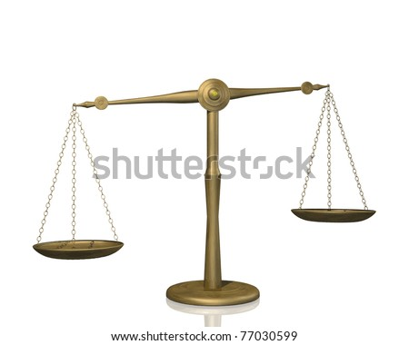 Image of a weighing scale isolated on a white background. - stock vector