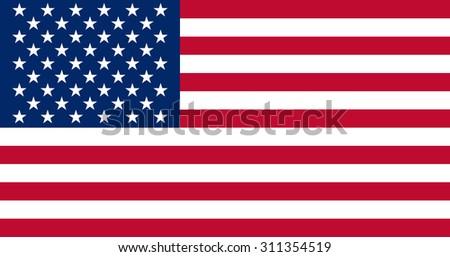 Image of american, USA flag vector - stock vector