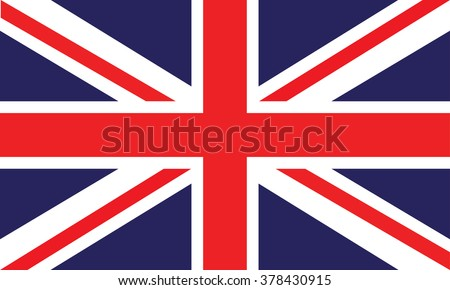 image of british flag - stock vector