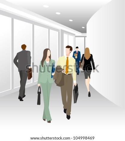 Image of business / Corridor - stock vector