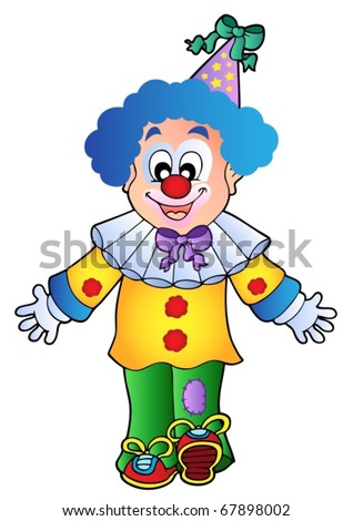 Image of cartoon clown 1 - vector illustration.