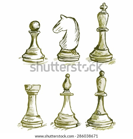 Image of chess - stock vector