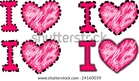image of  i  love you symbol in illustration - stock vector