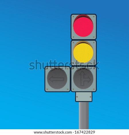 image of  road traffic light  on a blue background