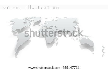 Image of world map paper. The concept vector illustration eps10 - stock vector