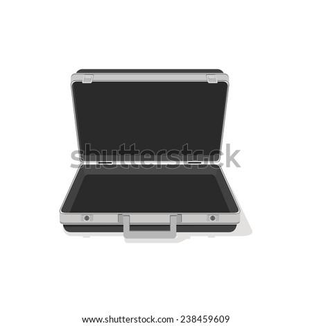 Image open briefcase. - stock vector