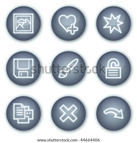 Image viever web icons set 2, mineral circle buttons series