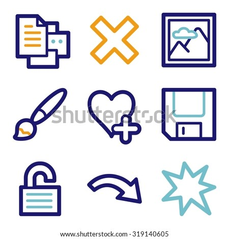 Image viewer web icons - stock vector