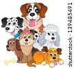 Image with dog topic 8 - eps10 vector illustration. - stock photo