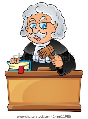 Image with judge theme 1 - eps10 vector illustration. - stock vector