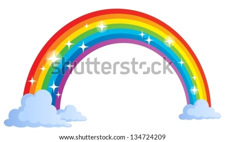Image with rainbow theme 1 - eps10 vector illustration. - stock vector