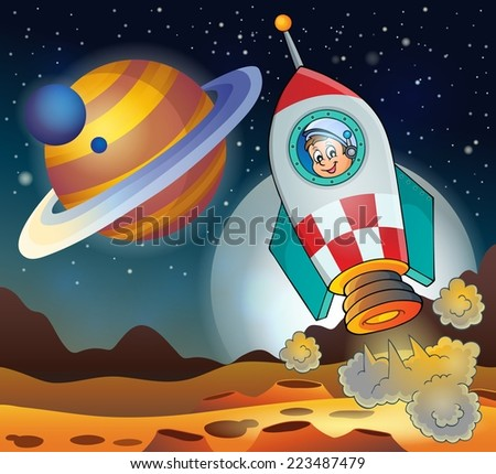 Image with space theme 3 - eps10 vector illustration. - stock vector