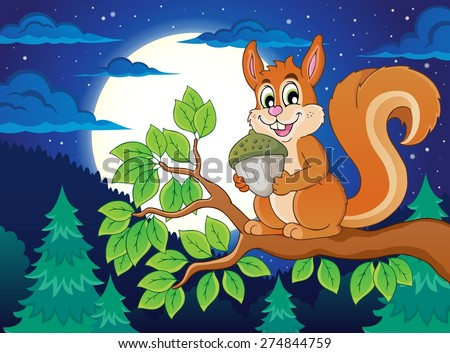 Image with squirrel theme 5 - eps10 vector illustration. - stock vector