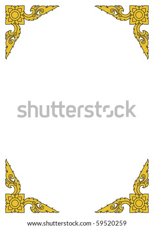 Images artistic of line thai - stock vector