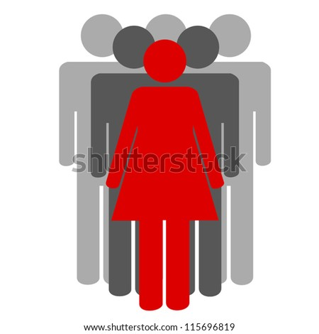 Images of the leader and that who follows it - stock vector