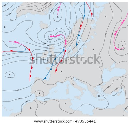 Weather Stock Images RoyaltyFree Images Vectors Shutterstock - Euro weather map us