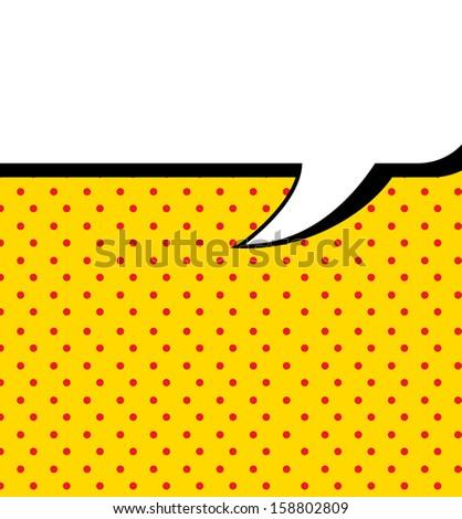 imagination comics icon over yellow background vector illustration  - stock vector
