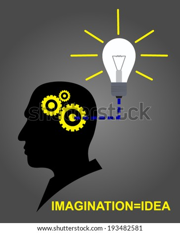 IMAGINATION IS IDEA - stock vector