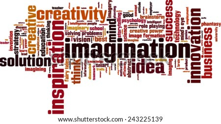 Imagination word cloud concept. Vector illustration - stock vector