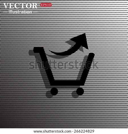 Imitation metal plate in the hole. Gradient.  remove from the shopping cart, vector illustration, EPS 10 - stock vector