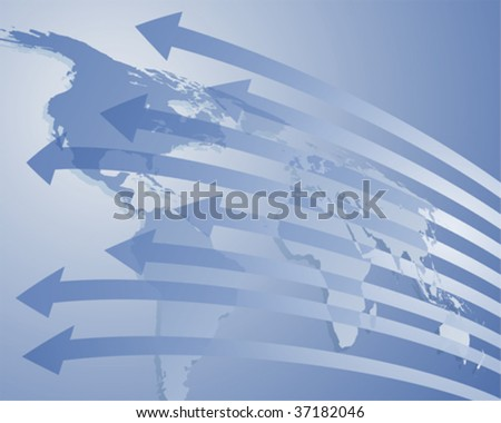 Import and export - stock vector