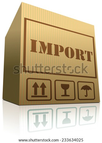 import shipping balance of international trade package shipment global importation  - stock vector