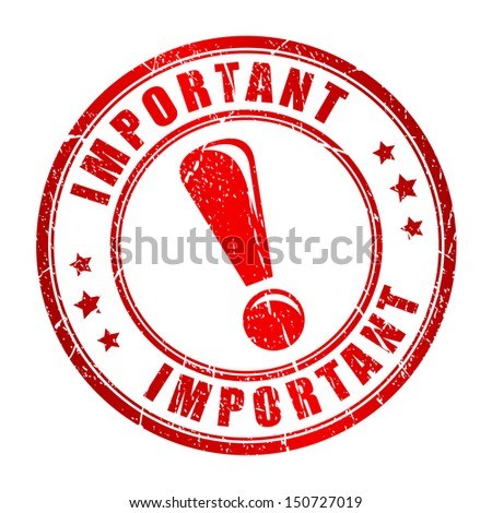 Important vector stamp - stock vector