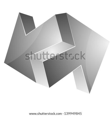Impossible arrows - stock vector