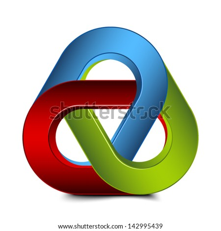 Impossible Chain Sign - stock vector