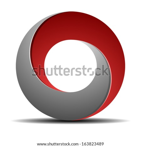 Impossible Circle sign - stock vector