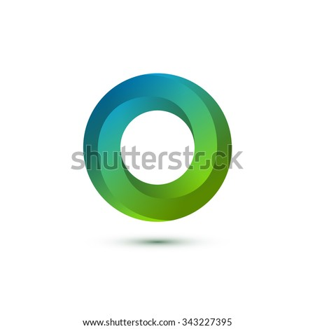 Impossible Circle Sign. Abstract Design, Impossible Object. Logo Template. Vector Illustration. - stock vector