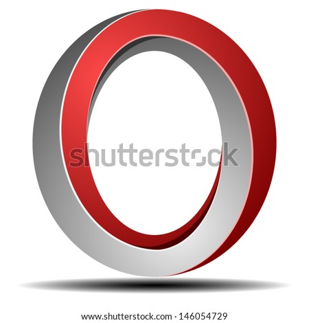 Impossible O ring sign - stock vector