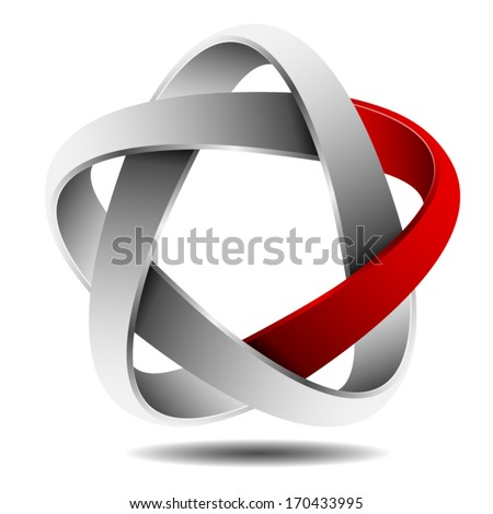 Impossible Star - stock vector