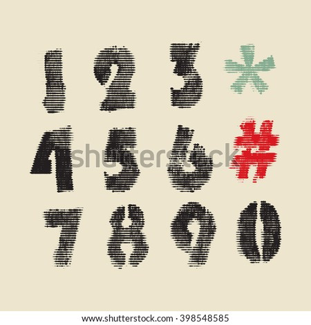 imprint numbers design set