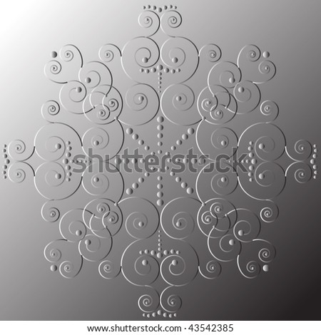 imprint of snowflake - stock vector