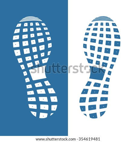 imprint soles shoes - sneakers. vector