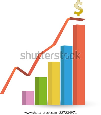 Improved sales - stock vector