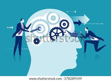 Improvement of the brain concept - stock vector