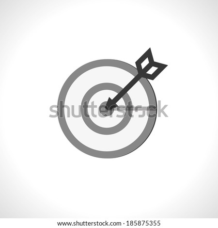 in a bullseye. vector icon. eps10 - stock vector