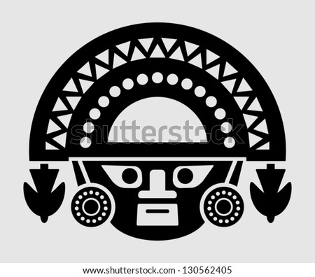inca icon - stock vector