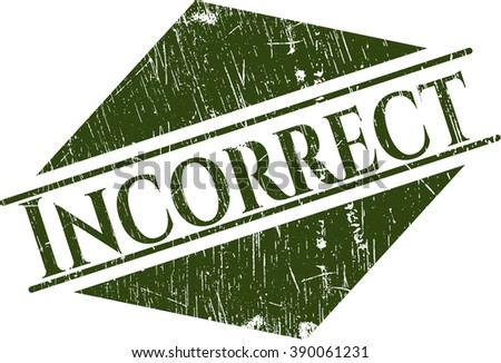 Incorrect rubber grunge texture stamp - stock vector