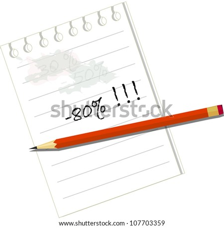 increase of an interest rate - stock vector