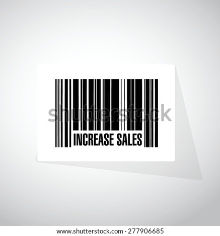 increase sales barcode sign concept illustration design over white - stock vector