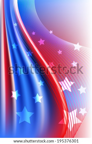 Independence Day Background - stock vector