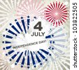 Independence Day card or background. July 4. Vector. - stock vector