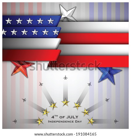 Independence Day Celebrate Background Design Template - stock vector