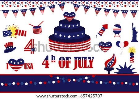 Independence Day Design Element Usa Flag Stock Vector Hd Royalty